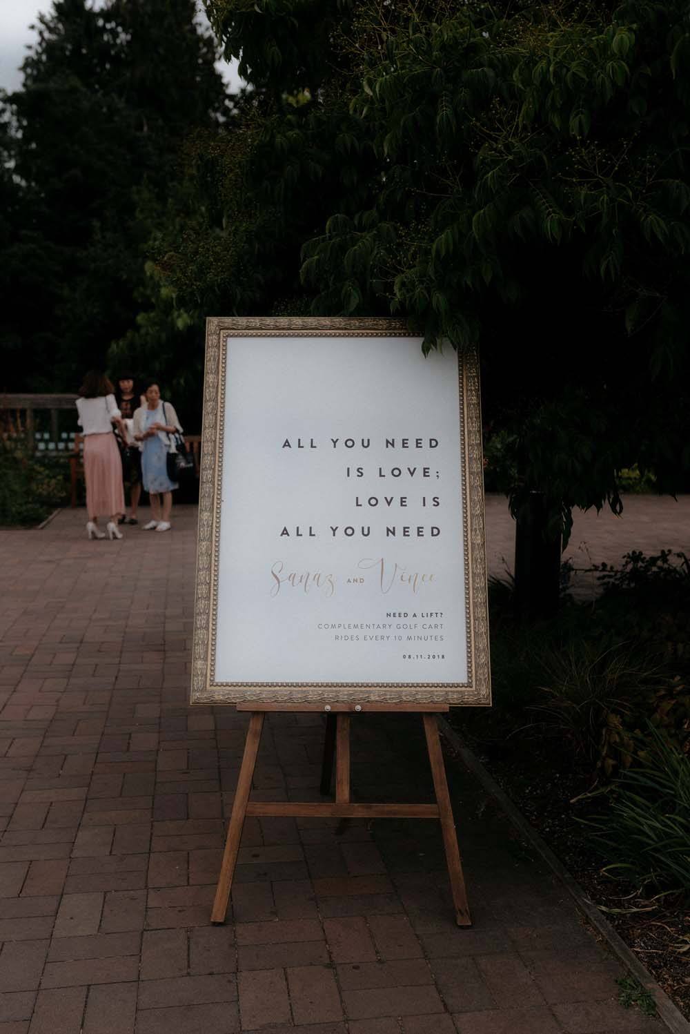 A Multicultural Wedding At The UBC Botanical Garden in Vancouver - signage