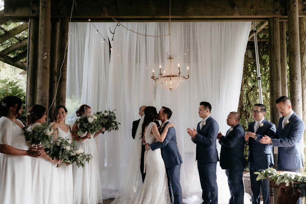 A Multicultural Wedding At The UBC Botanical Garden in Vancouver - ceremony