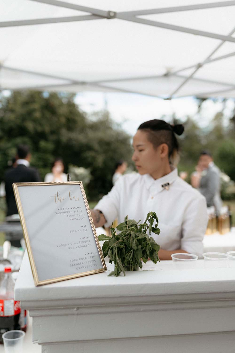 A Multicultural Wedding At The UBC Botanical Garden in Vancouver - bar menu