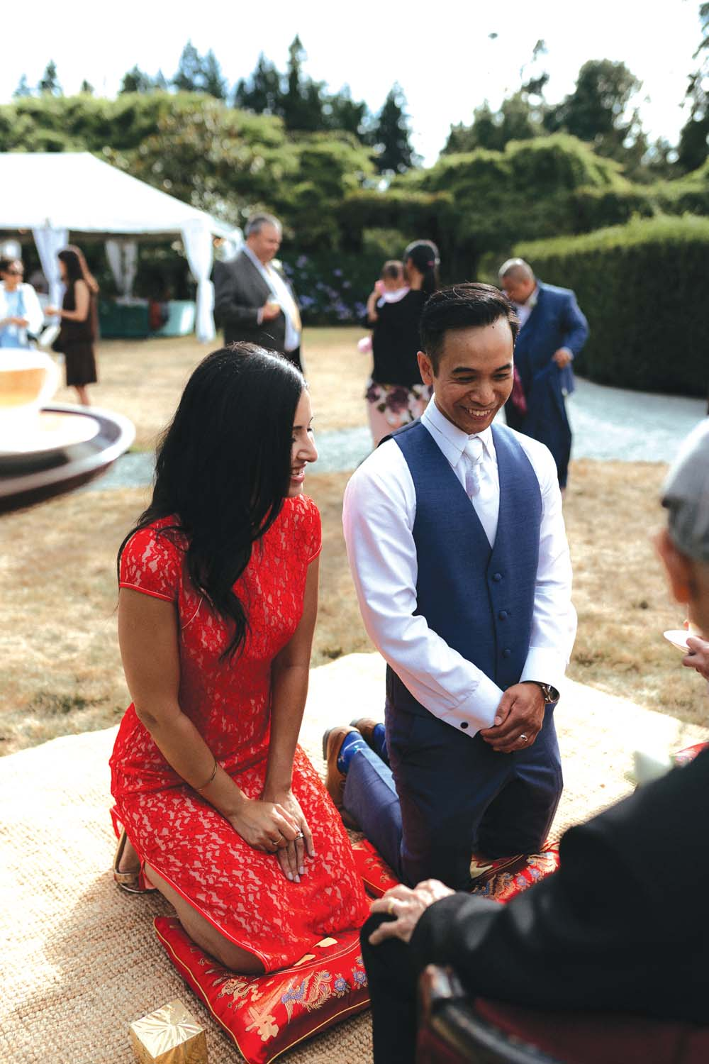 A Multicultural Wedding At The UBC Botanical Garden in Vancouver - tea ceremony