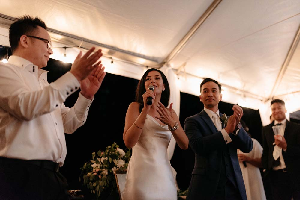 A Multicultural Wedding At The UBC Botanical Garden in Vancouver - speech