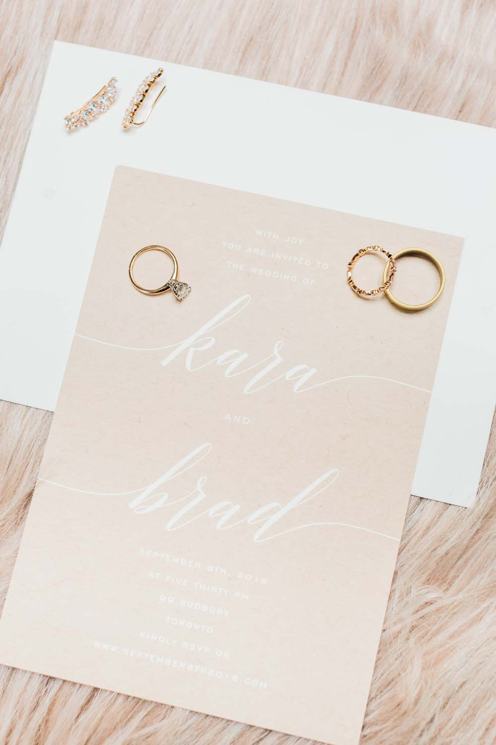 A Bright and Airy September Wedding in Toronto, Ontario - Wedding Stationery and Rings