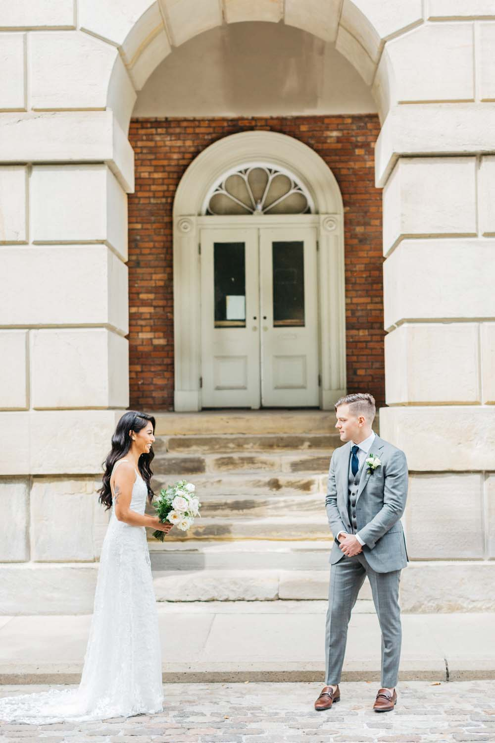 A Bright and Airy September Wedding in Toronto, Ontario - First Look