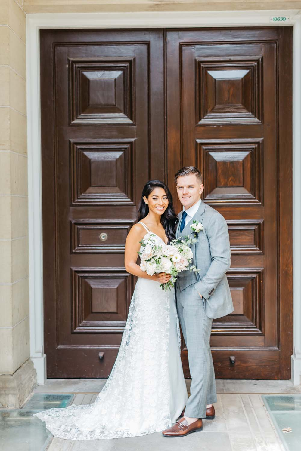 A Bright and Airy September Wedding in Toronto, Ontario - Bride and Groom