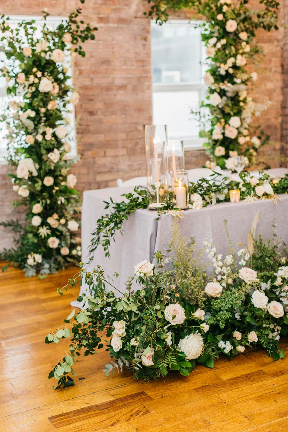 A Bright and Airy September Wedding in Toronto, Ontario - Head Table Florals