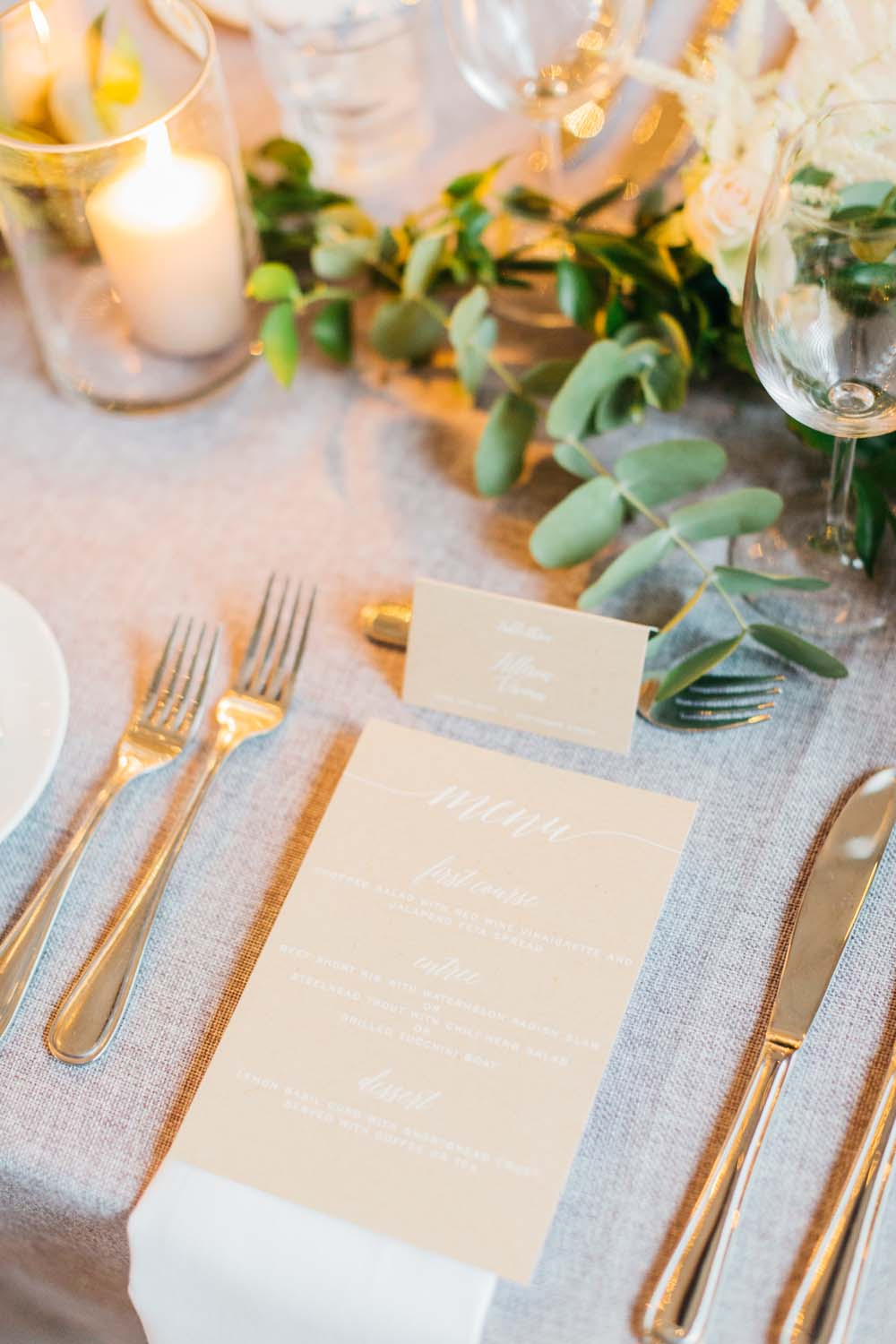 A Bright and Airy September Wedding in Toronto, Ontario - Menu and Place Setting