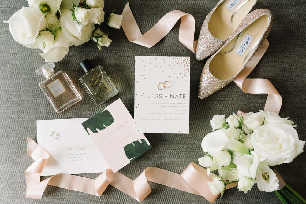 A Modern, Hacienda Hipster Wedding in Toronto, Ontario - Wedding Stationary, Rings and Accessories