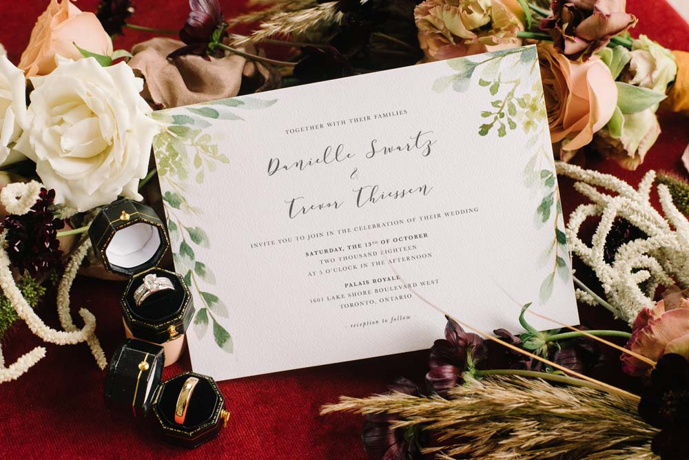 A Rustic Lakeside Wedding in Toronto, Ontario - Wedding Invitation and Rings