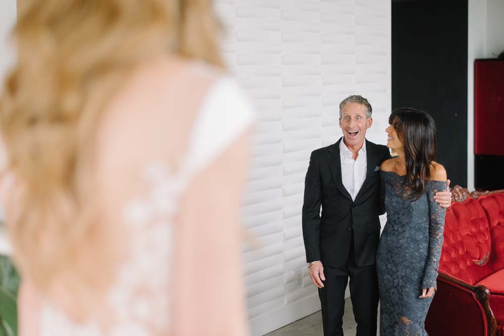 A Rustic Lakeside Wedding in Toronto, Ontario - Father's First Look