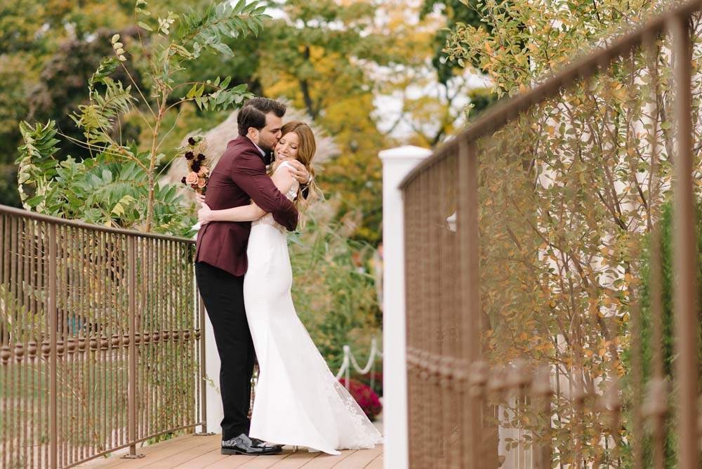 A Rustic Lakeside Wedding in Toronto, Ontario - First Look