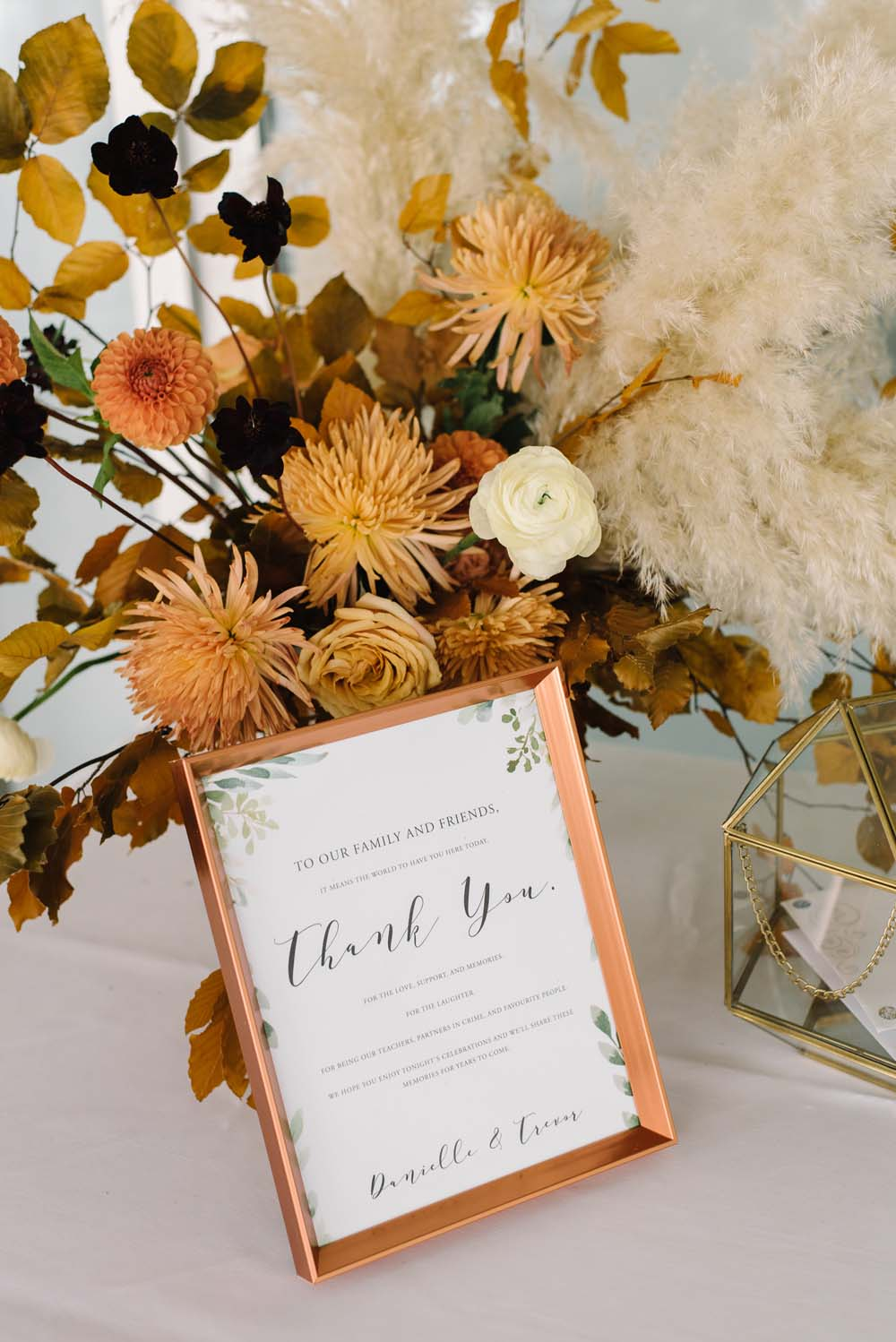 A Rustic Lakeside Wedding in Toronto, Ontario - Thank You Signage