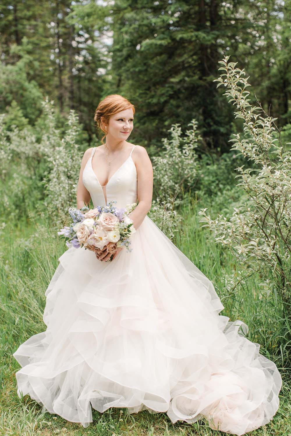 A Simple, Romantic Floral Wedding in Calgary