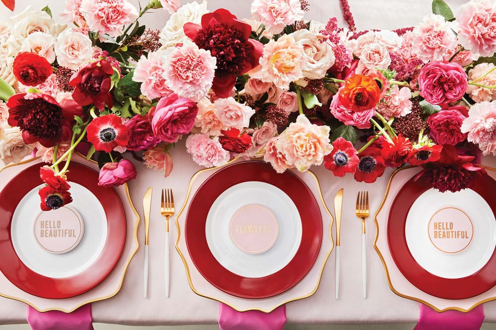 Every Single Detail You Need For A Valentine's Day Inspired Wedding - tablescape