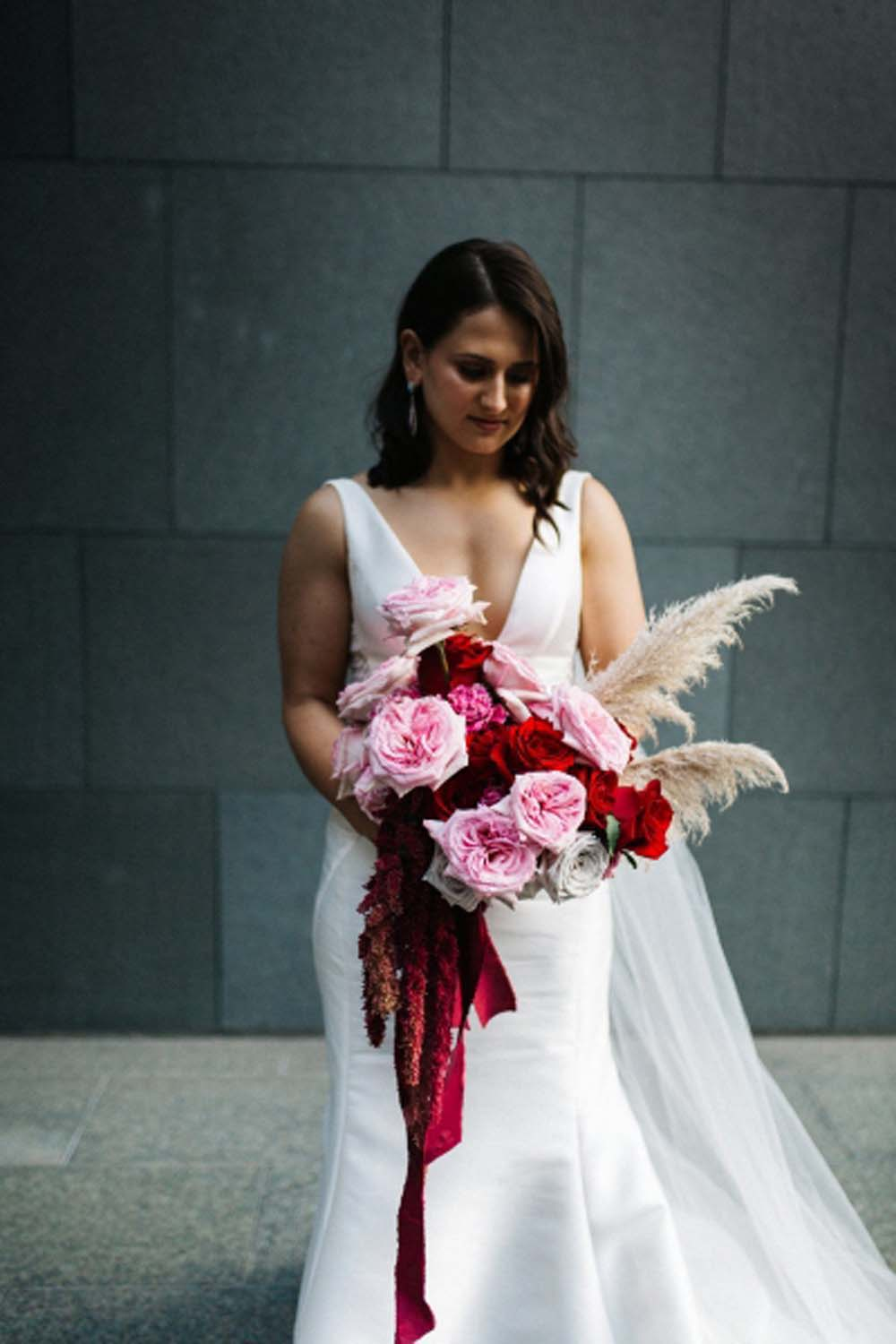 Every Single Detail You Need For A Valentine's Day Inspired Wedding - bridal bouquet