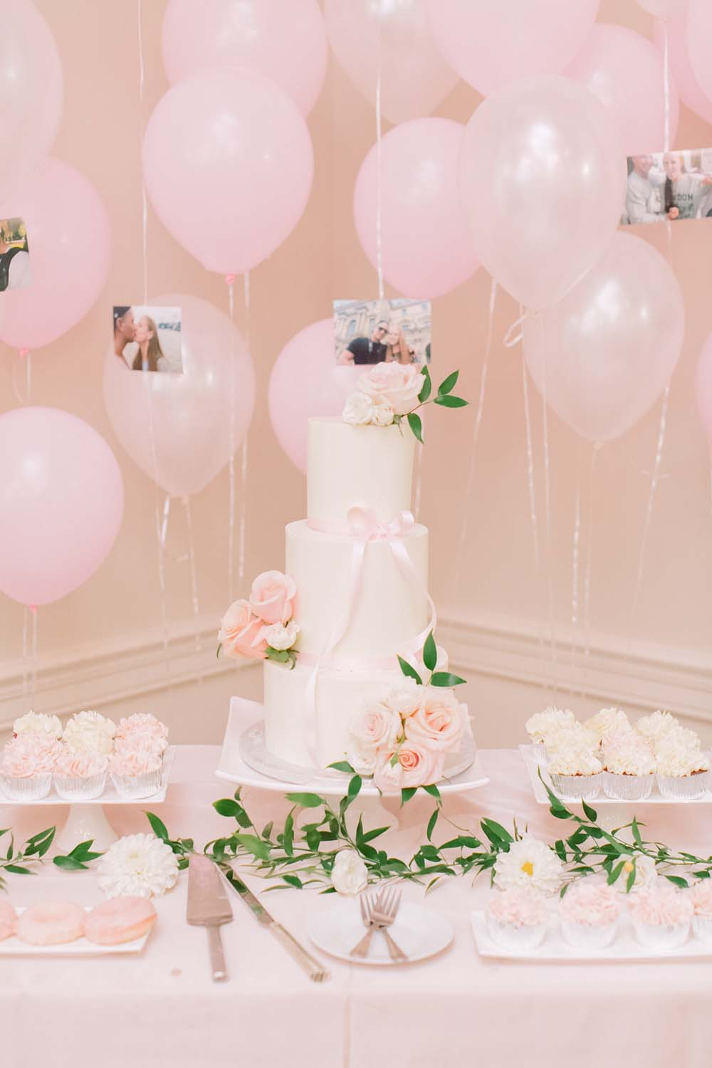 Every Single Detail You Need For A Valentine's Day Inspired Wedding - sweet table and balloons
