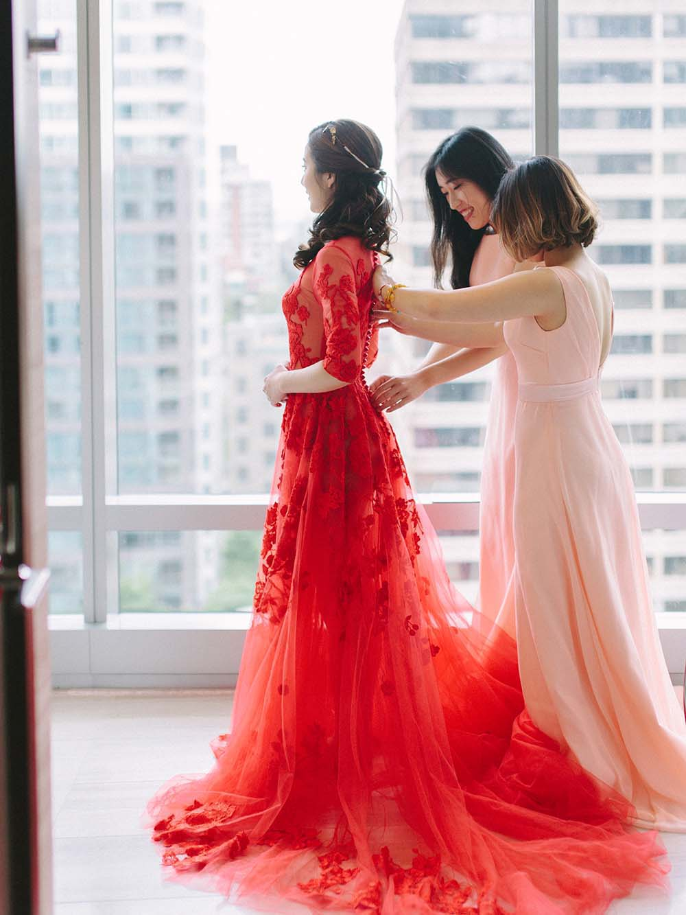 Every Single Detail You Need For A Valentine's Day Inspired Wedding - red dress