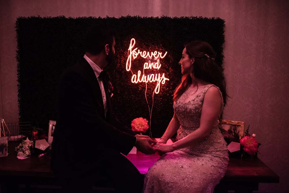 Every Single Detail You Need For A Valentine's Day Inspired Wedding - neon sign