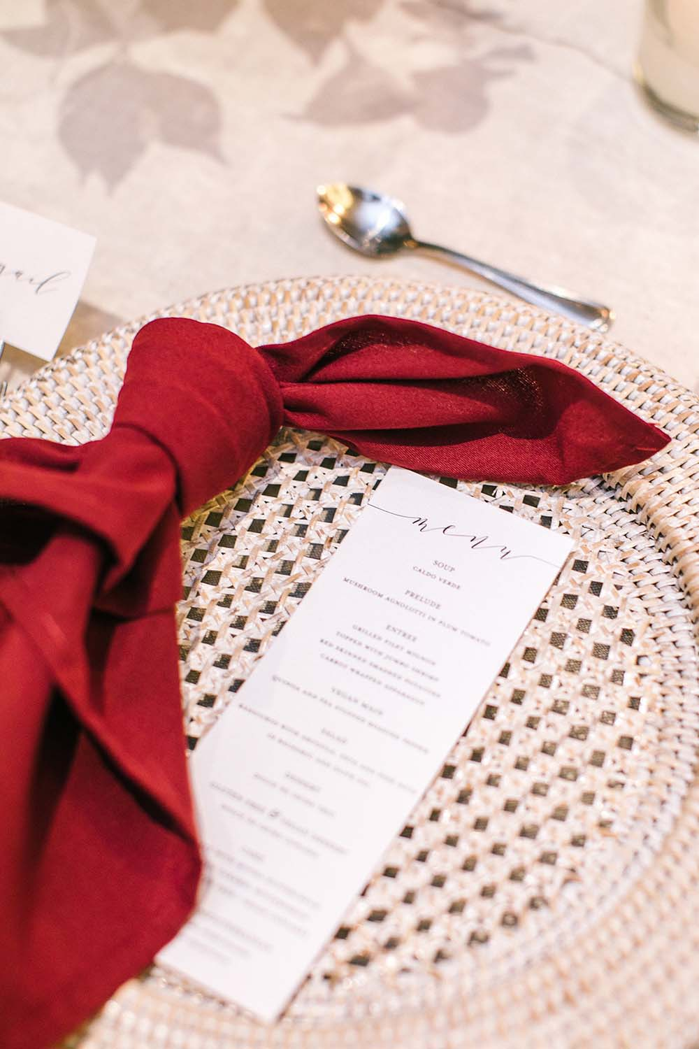 Every Single Detail You Need For A Valentine's Day Inspired Wedding - napkin