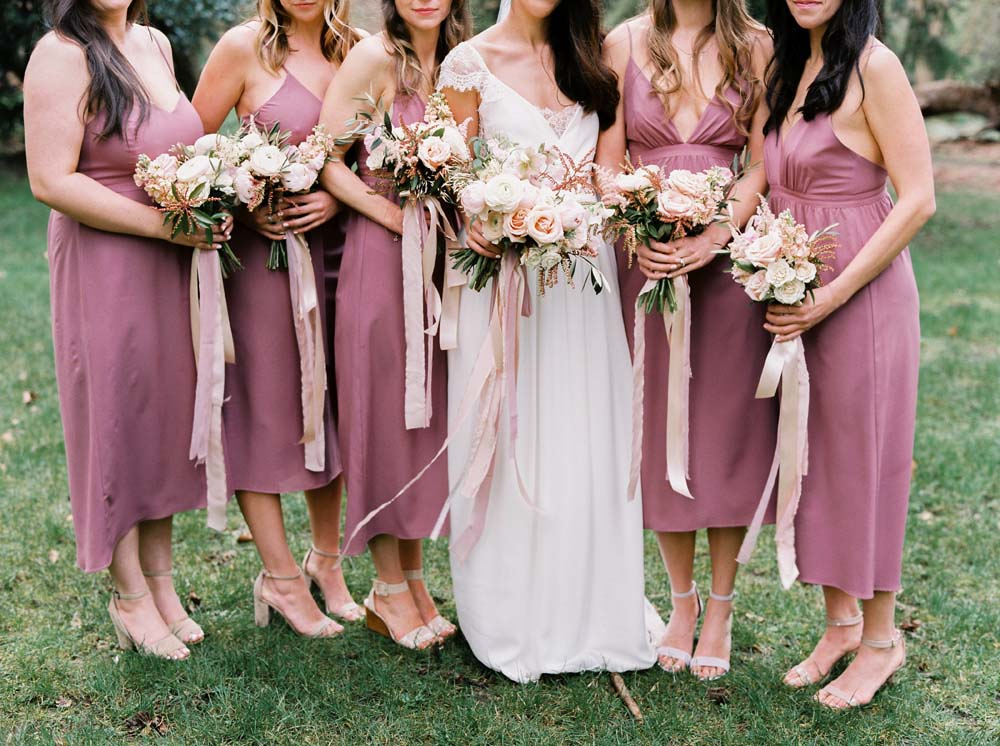 Every Single Detail You Need For A Valentine's Day Inspired Wedding - bridesmaid dresses