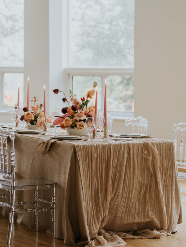 Table setting from planned perfectly